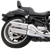 harley-davidson v-rod night rod street rod baffled slash cut slip-on exhaust pipe mufflers